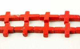 Magnesit kors 12x16 mm Rød
