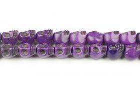 Magnesit skull lilla 10x12 mm