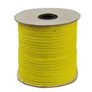 Imiteret lædersnøre flad 4x1 mm gul
