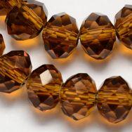 Glasperler 4x3 mm mørk gylden