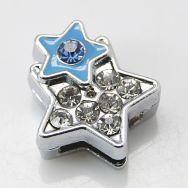 Slide perler Stjerne med rhinsten