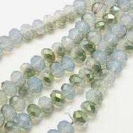 Glasperler 6x4 mm opal halvplated
