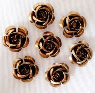 Metal rose 15 mm brun 10 stk