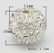 Rhinsten perle 11 mm klar