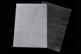 Krympeplast ark mat transparant 29x20 cm