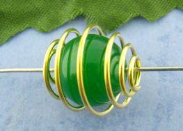 Vedhæng perlebur guldbelagt 14x15 mm