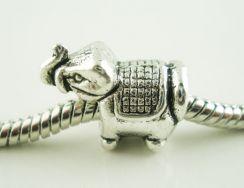 Metal perle 15x8 mm - 10 stk