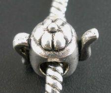 Metal perle 13x12 mm - 10 stk