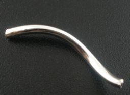 Perlerør snoet sølvbelagt 20 stk