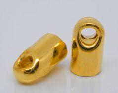 Enderør 7 x 4 mm Guldbelagt 20 stk