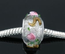 Glas perler 10x14 mm klar lampwork