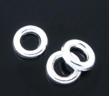 O-ringe Sølvbelagt lukkede 4 mm hul 20 stk