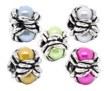 Stopper perle med acryl perle Gul