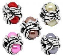 Stopper perle med acryl perle Brun