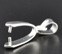 Vedhæng til perle sølvbelagt 8x24 mm 10 stk