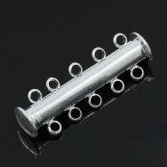 Smykkelås sølvbelagt slide 30x10 mm