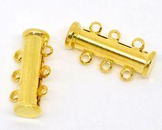 Smykkelås slide guldbelagt 19,7x6,7 mm