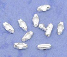 Lås til 0,6-1,5 mm kuglekæde sølvbelagt