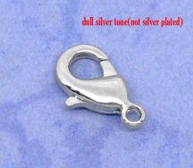 Smykkelås platin farve 12x7 mm 10 stk