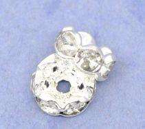 Rhinstens rondel 8 mm