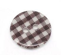 Knap 16 mm med tern brun