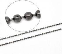 Kuglekæde gunmetal 1,5 mm