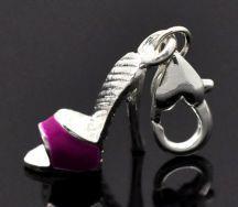Clip on vedhæng sko fuchsia