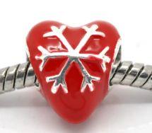 Julehjerte led 5 mm hul