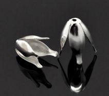 Perlehatte 13x18 mm sølvbelagt 10 stk