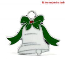 Vedhæng juleklokke  28x23 mm