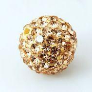 Rhinsten perler 10 mm nude/beige