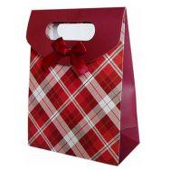 Smykkepose med sløjfe rød