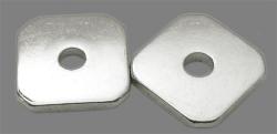 Mellemled / Spacer 20 stk sølvfarvet