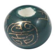 Porcelæns perler håndlavede 12x9 mm grøn