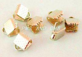 Endestykke klemme 10x7 mm guld 10 stk