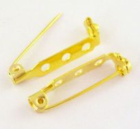 Broche nål guld farve 27 x 5 mm