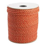 Imiteret lædersnøre 4 mm orange