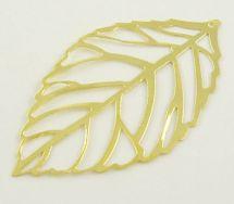 Vedhæng blad guld farve 54x31 mm