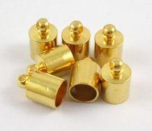 Enderør med øje 4x8 mm guld farve