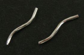 Perlerør snoede platinum farve 10 stk