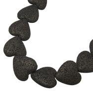 Lava perler hjerte 26-28 mm