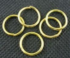 O-ring 13,3 mm hul guld farve 10 stk