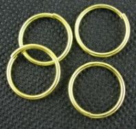 O-ring 16,2 mm hul guld farve 10 stk