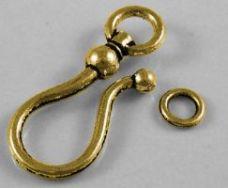 Smykke lås  Antik guldfarvet