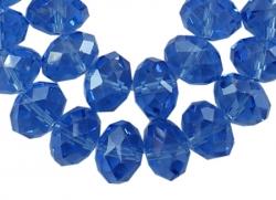 Glasperler 8x6 mm mellemblå