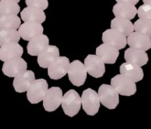 Glasperler 8x6 mm pink