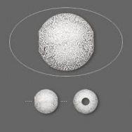 Stardust perler 8 m/m sølv farve