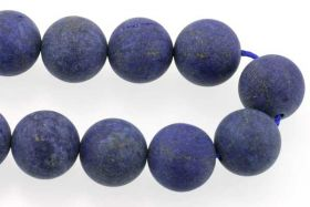 Lapis Lazuli frosted 12 mm