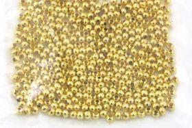 Metalperler 2,5 mm guld farve