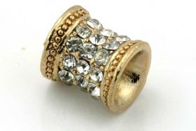 Rhinsten perle guld